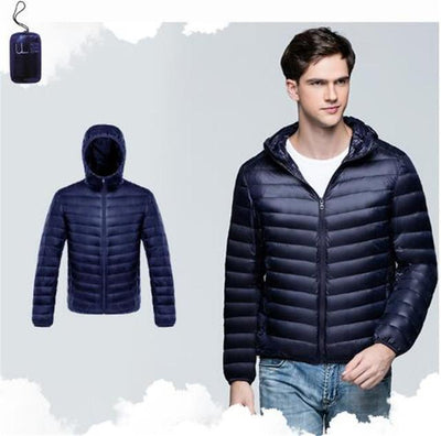 Outlet Appeal navy blue / XXL / China Men Duck Down Jacket Parka Winter Hooded Down Coat