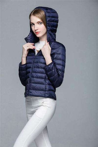 Outlet Appeal Navy Blue / XXL / China Women Ultra Light Down Coat Outwear Jacket
