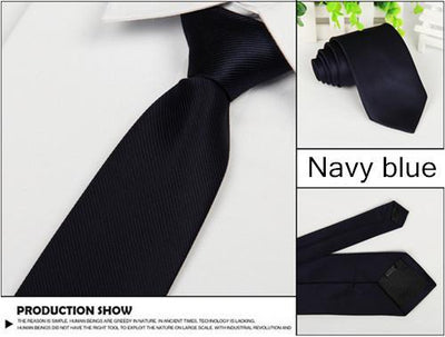 Outlet Appeal Navy Solid 8cm slim ties men necktie Fashion Man Accessories For Party Business Formal lot