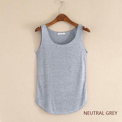 Outlet Appeal Neutral Grey / One Size Fitness Tank Top T Shirt Plus Size Loose Model Women T-shirt Cotton O-neck Slim Tops