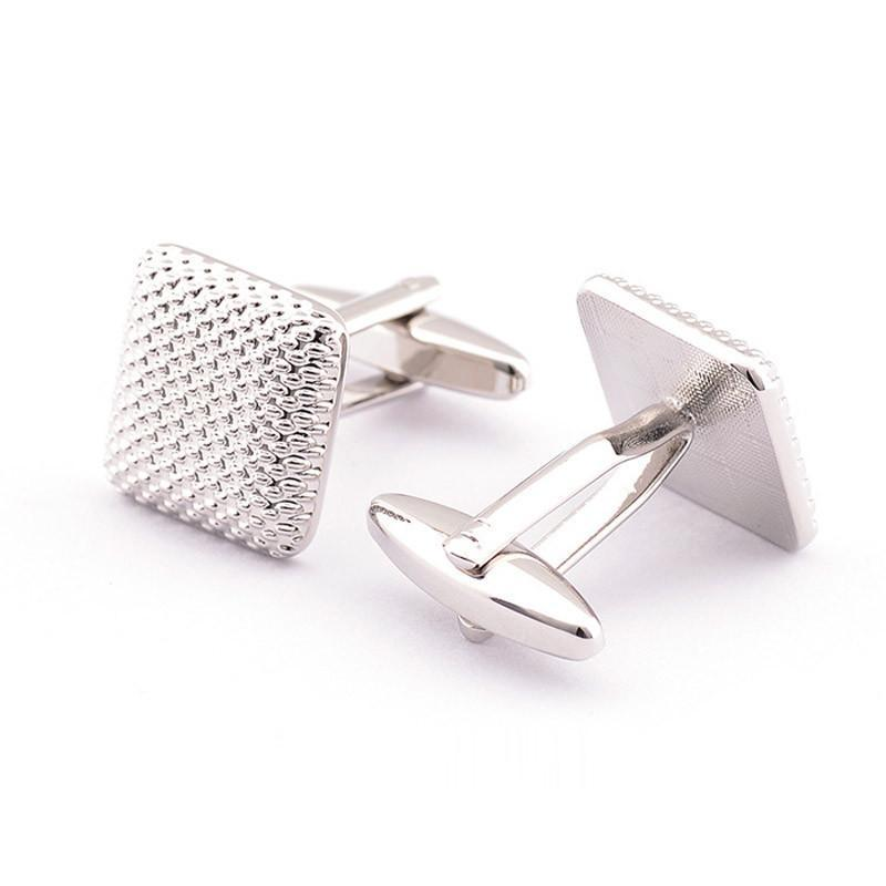 New Gentleman Men Wedding Party Gift Silver Color Cuff Link