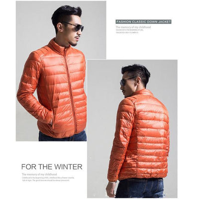 Outlet Appeal Orange / S / China Mens Autumn Winter Duck Down Jacket