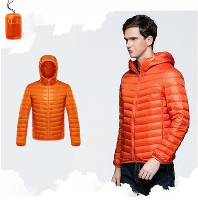 Outlet Appeal Orange / XXL / China Men Duck Down Jacket Parka Winter Hooded Down Coat