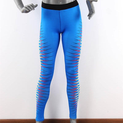 Outlet Appeal pant Blue / S Women's Printed Stretch Sport Leggings