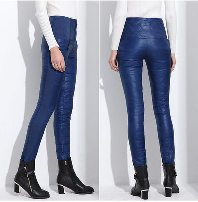 Outlet Appeal Pants Plus Velvet Thickening Slim Thermal Female Warm Trousers Legging High Waist Down Pants