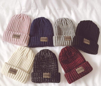 Outlet Appeal Pink Knitted Twisted Thread Winter Cap