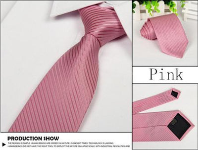 Outlet Appeal pink Solid 8cm slim ties men necktie Fashion Man Accessories For Party Business Formal lot