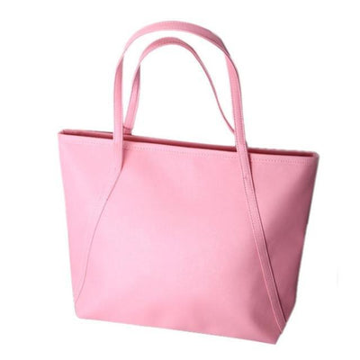 Outlet Appeal Pink Women Messenger Bags Simple Winter Larger Capacity Tote Leather Women Bag