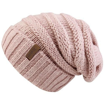 Outlet Appeal pink Women's Winter Knitted Slouchy Beanie Hat