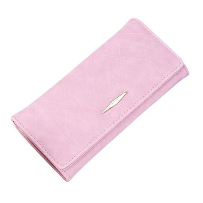 Outlet Appeal Pink Women Wallets Solid Hasp Coin Purse Women Long Wallet Card Holders Clutch Handbag