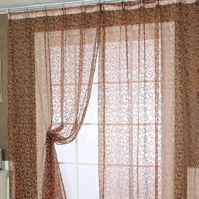 Outlet Appeal Pteris Window Screens Curtains Door Balcony Curtain Panel Sheer Size 200cm x 100 cm