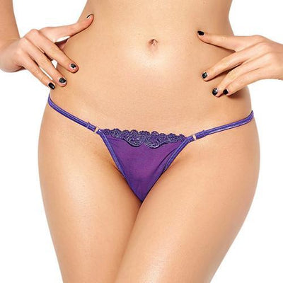 Outlet Appeal purple panties / One Size See Through Micro Mini G-String Panties - 4 Colors - Medium-6XL