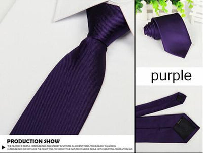 Outlet Appeal Purple Solid 8cm slim ties men necktie Fashion Man Accessories For Party Business Formal lot