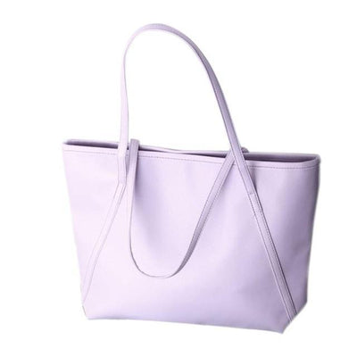Outlet Appeal Purple Women Messenger Bags Simple Winter Larger Capacity Tote Leather Women Bag