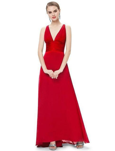 Outlet Appeal Red / 4 Evening Dresses Ever-Pretty Elegant V Neck Long Formal Special Occasions