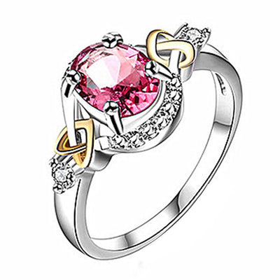 Outlet Appeal Red / 6 Alloy Engagement Ring with Crystal