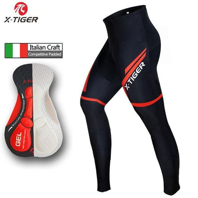 Outlet Appeal Red / L Cycling Pants Tights With 5D Gel Pad MTB Road Bike Pants