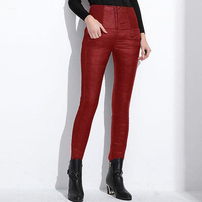 Outlet Appeal Red / L Pants Plus Velvet Thickening Slim Thermal Female Warm Trousers Legging High Waist Down Pants