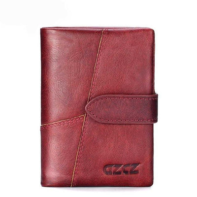 Outlet Appeal Red-M GZCZ Genuine Leather Women Wallet Lady Long Wallet Coin Purse Purse Clutch Handy