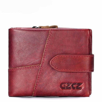 Outlet Appeal Red-S GZCZ Genuine Leather Women Wallet Lady Long Wallet Coin Purse Purse Clutch Handy