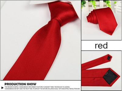 Outlet Appeal red Solid 8cm slim ties men necktie Fashion Man Accessories For Party Business Formal lot