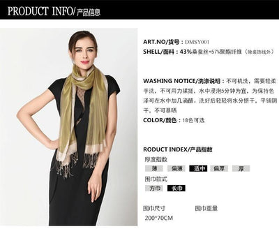 Outlet Appeal Red Stylish Sunscreen Scarves Silk Sun Block Shawl Scarf for Air Condition Room
