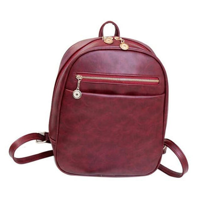 Outlet Appeal Red Women Bag Fashion leather Backpacks Mochila Feminina Bag Mochila Escolar Backpacks Rucksack