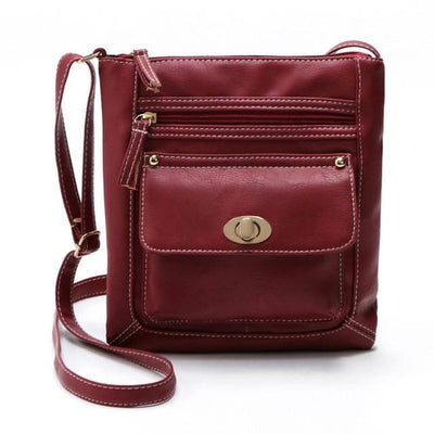 Outlet Appeal Red Women Bag Leather Satchel Cross Body Shoulder Handbags Women Messenger Bag