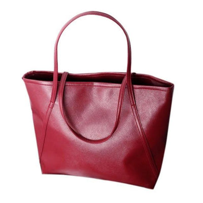 Outlet Appeal Red Women Messenger Bags Simple Winter Larger Capacity Tote Leather Women Bag