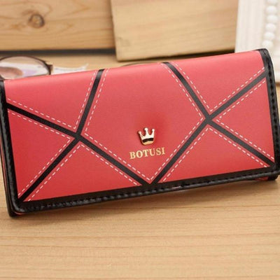 Outlet Appeal Red Women's Luxury Faux Leather Long Wallet Clutch Purse