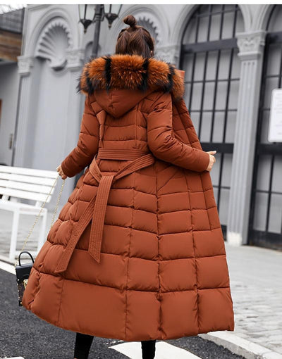 Long Slim Wadded Thick Warm Parka Jacket