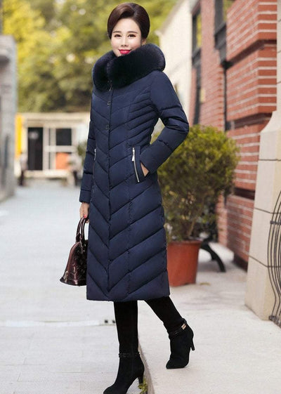 Thick Warm Hooded Long Parka Jacket