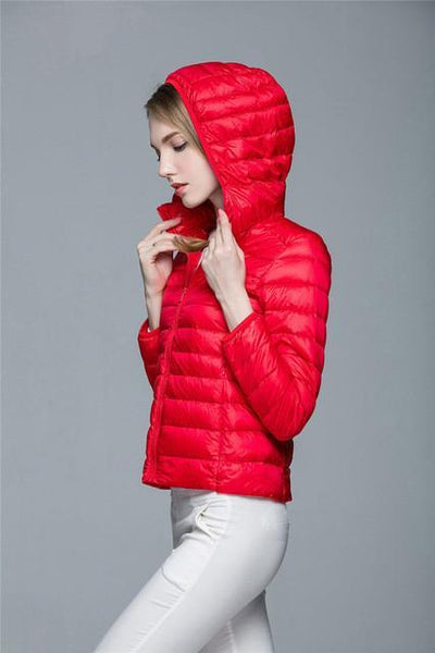 Outlet Appeal Red / XXL / China Women Ultra Light Down Coat Outwear Jacket
