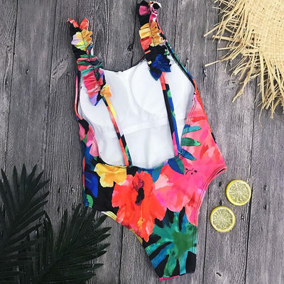 Outlet Appeal Retro Cross Back One Piece Monokini Swimsuit - Small-XL - 11 Styles