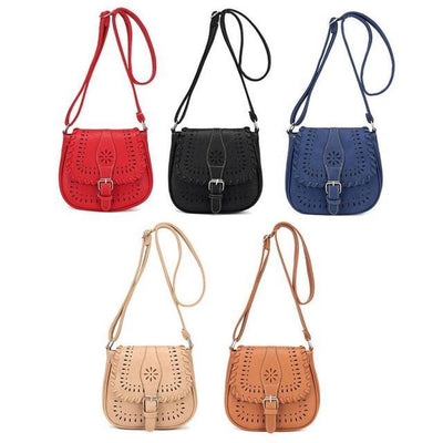 Outlet Appeal Rondom color Handbags Fashion Women Leather Tote Handbag Satchel Hollow Out Bag Women Shoulder Bgs Crossbody