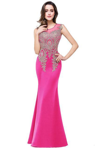 Outlet Appeal rose / 2 Lace Mermaid Prom Dresses Long Embroidery Evening Party Dress