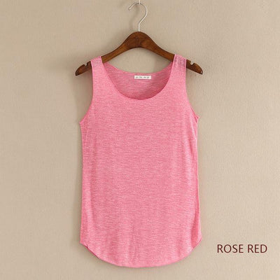 Outlet Appeal rose red / One Size Fitness Tank Top T Shirt Plus Size Loose Model Women T-shirt Cotton O-neck Slim Tops