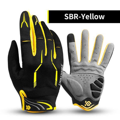 Outlet Appeal SBR Yellow / L / China Cycling Bike Gloves Touch Screen Shockproof MTB Road Bike