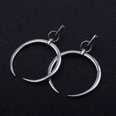 Outlet Appeal Silver / one-size 1 Pair New Fashion Lady Women Thin Round Big Large Dangle Hoop Loop Earrings