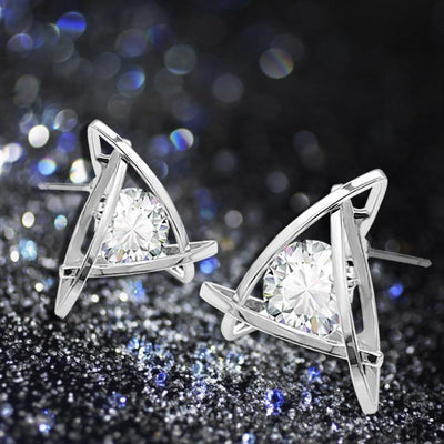 Outlet Appeal Silver / one-size Women Fashion Lovely Elegant Crystal Rhinestone Square Ear Stud Earrings Hot GD