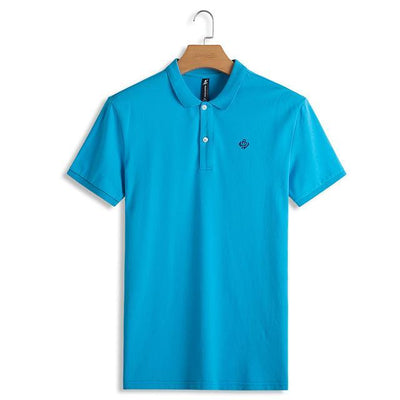 Outlet Appeal Sky Blue / M / China Pioneer Camp Polo shirts men solid polos male top quality 100% cotton casual summer