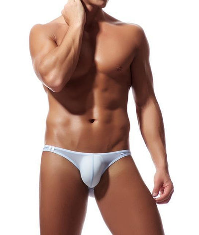 Men's Soft Breathable Transparent Mesh Low Waist Bikini Briefs Underwear