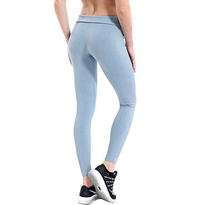 Outlet Appeal Sliver / S / China Women's High Waist Stretch Fitness Yoga Pants Leggings - 10 Colors