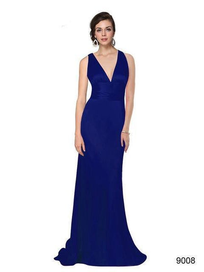 Outlet Appeal Spphire blue / 4 Evening Dresses Ever-Pretty Elegant V Neck Long Formal Special Occasions