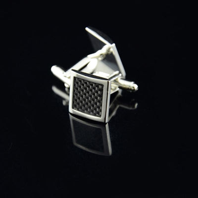 Outlet Appeal Stainless Steel Silver Square Vintage Men's Wedding Gift Cuff Links