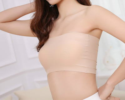 Outlet Appeal Stretchy Breathable Padded Strapless Tube Top Bra