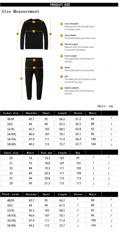 Outlet Appeal Suit Men Slim Fit Suits for Men 3 Piece Jacket Pants Vest Suit Mens Formal Wear