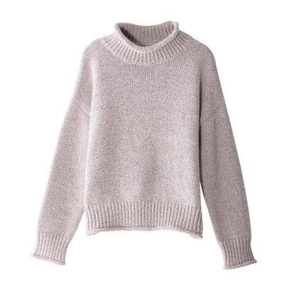 Outlet Appeal Toyouth Christmas Sweater 2018 Winter Women Jumper Casual Turtleneck Solid Color Long Sleeve Knitted Pullover sueter mujer New
