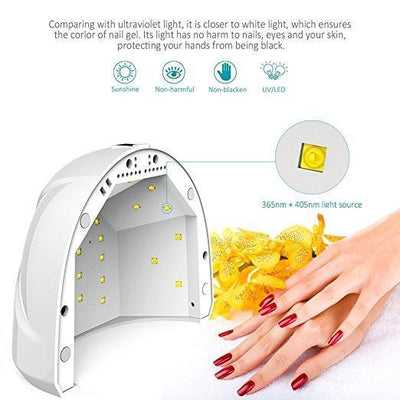 Outlet Appeal US Plug 48W/24W Nail Dryer LED UV Lamp Gel Nail Polish Dryer Fingernail Toenail Gel Curing Salon Tools