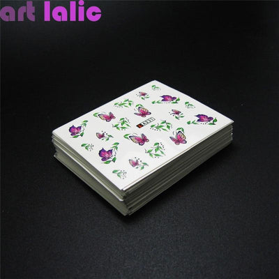 Outlet Appeal Water Transfer Nail Art Stickers DIY  - 50 Sheets Mixed Designs